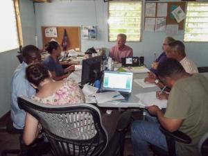 Belize school board with new appointees in attendance.