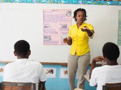 Ms Athina teaching.
